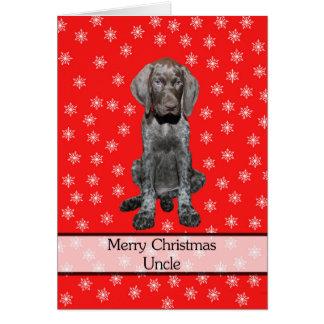 光沢のあるハイイログマの叔父さんメリークリスマス カード