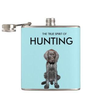 光沢のあるハイイログマのApresの狩りの打撃のボトル フラスク