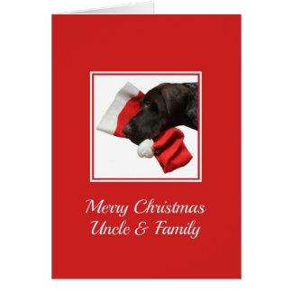 光沢のあるハイイログマ叔父さんおよび家族の   メリークリスマス カード