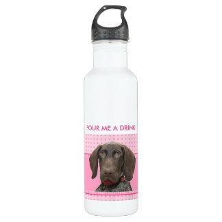 光沢のあるハイイログマ犬の水差し ウォーターボトル