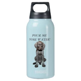 光沢のあるハイイログマ犬の水差し 断熱ウォーターボトル