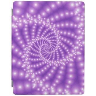 光沢のあるパステル調の紫色の螺線形のiPad 2/3/4カバー iPadスマートカバー