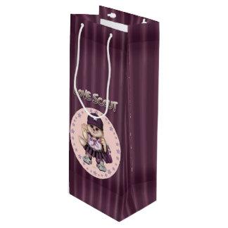 光沢のある偵察者CATの女の子のギフトバッグのワイン ワインギフトバッグ