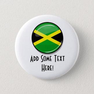 光沢のある円形のジャマイカの旗 5.7CM 丸型バッジ