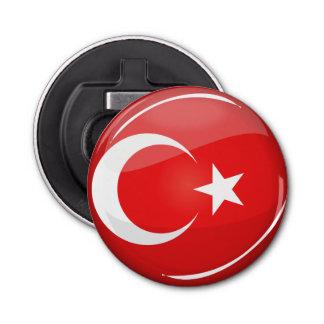 光沢のある円形のトルコの旗 栓抜き