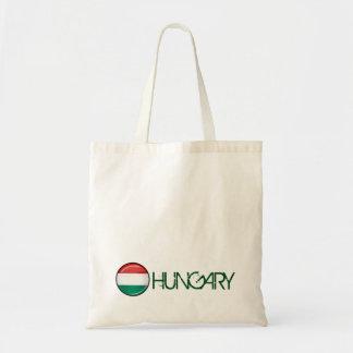 光沢のある円形のハンガリーの旗 トートバッグ
