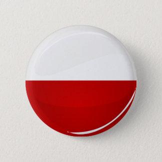 光沢のある円形のポーランド人の旗 5.7CM 丸型バッジ