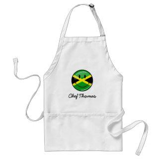 光沢のある円形の微笑のジャマイカの旗 スタンダードエプロン