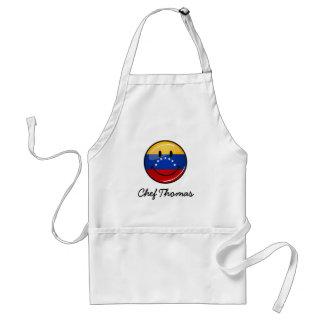 光沢のある円形の微笑のベネズエラの旗 スタンダードエプロン