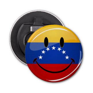 光沢のある円形の微笑のベネズエラの旗 栓抜き