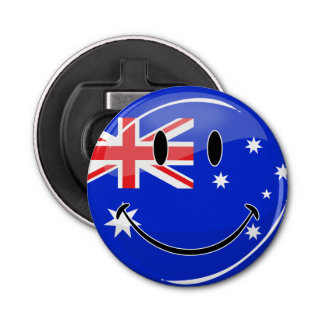 光沢のある微笑のオーストラリアの旗 栓抜き