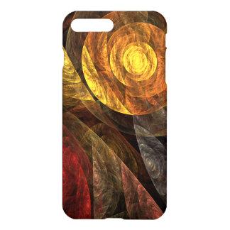 光沢のある生命抽象美術の螺線形 iPhone 8 PLUS/7 PLUSケース