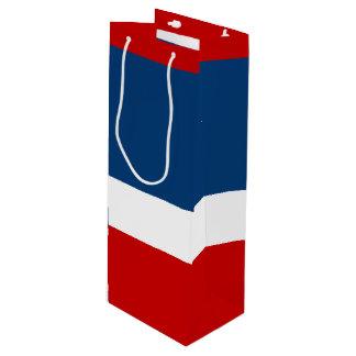 光沢のある赤く白く、青ワインのギフトバッグ ワインギフトバッグ