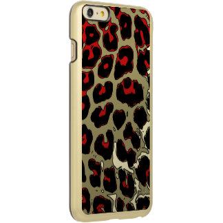 光沢のある赤く黒いチータ INCIPIO FEATHER SHINE iPhone 6 PLUSケース