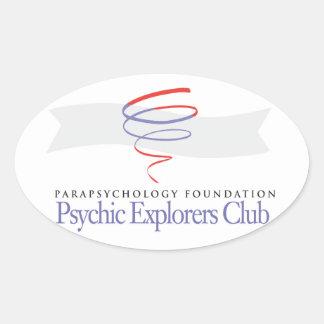 光沢のある霊魂の探検家クラブステッカー 楕円形シール
