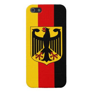 光沢のある頂上の精通したiPhone 5のドイツの旗 iPhone 5 Case