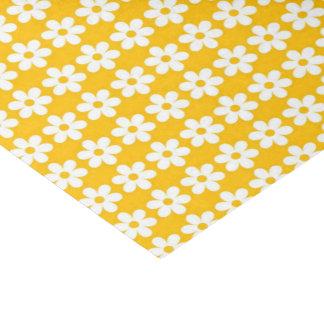 光沢のある黄色い花のプリント 薄葉紙