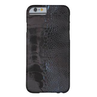 光沢のある黒いわにプリント BARELY THERE iPhone 6 ケース