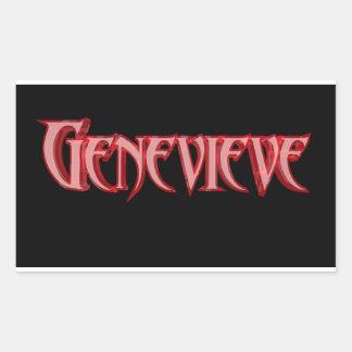 光沢のあるGenevieveの長方形のステッカー 長方形シール