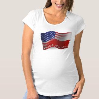 光沢アメリカの振る旗 マタニティTシャツ