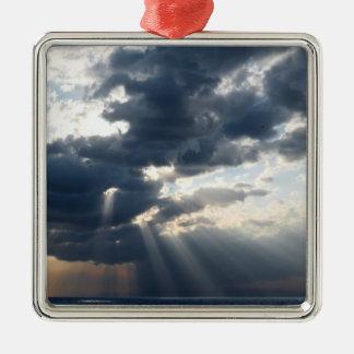 光線および雲 メタルオーナメント