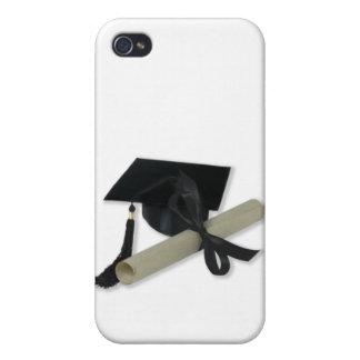 免状および卒業の帽子(乳鉢板) iPhone 4/4S カバー
