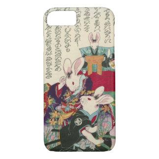 兎の歌舞伎役者、ウサギ、Yoshifuji、Ukiyo-eの芳藤俳優 iPhone 7ケース