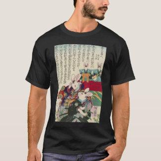 兎の歌舞伎役者、ウサギ、Yoshifuji、Ukiyo-eの芳藤俳優 Tシャツ