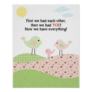 児童室のための鳥家族ポスター ポスター