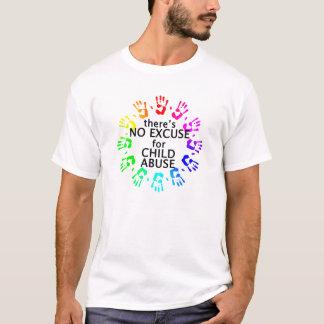児童虐待のための弁解無し Tシャツ