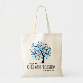 児童虐待の防止の木 トートバッグ