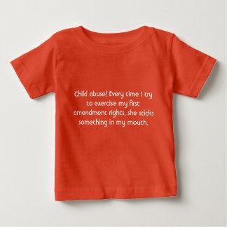 児童虐待 ベビーTシャツ
