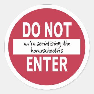入らないで下さい(私達は…社会的ニしています) ステッカー