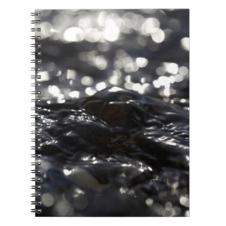 入り江の水の表面のマクロ写真 ノートブック