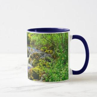 入り江の滝の信号器のマグ マグカップ