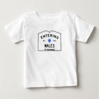 入るウェールズ ベビーTシャツ