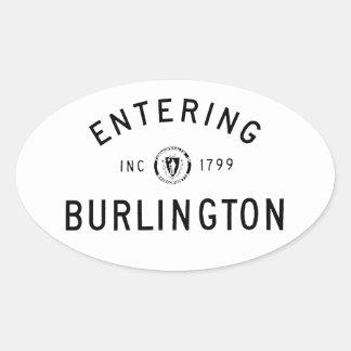 入るバーリントン 楕円形シール