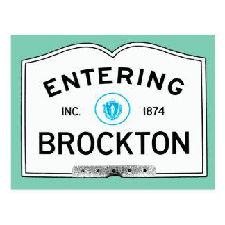 入るBrockton ポストカード