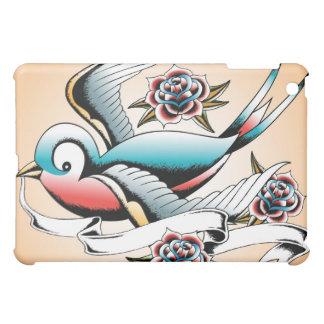 入れ墨のすずめのばら色のipadカバー iPad miniケース