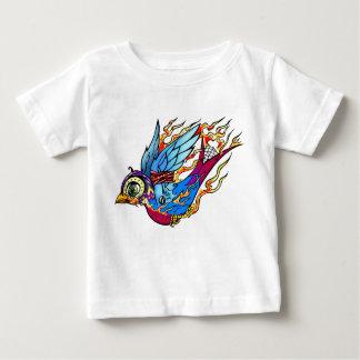 入れ墨のすずめのワイシャツ ベビーTシャツ