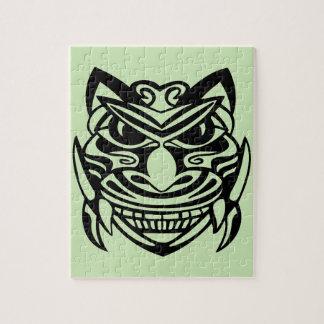 入れ墨のスタイルのマスク1 ジグソーパズル