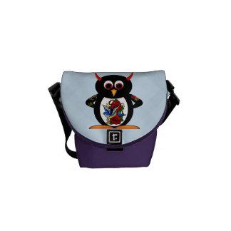 Tattoo Evil Penguin Rickshaw Messenger Bag