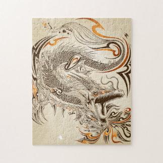 入れ墨のHennaの種族のドラゴン10x14の写真のパズル ジグソーパズル