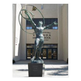 入口、ベントゥーラの高等学校、カリフォルニア ポストカード