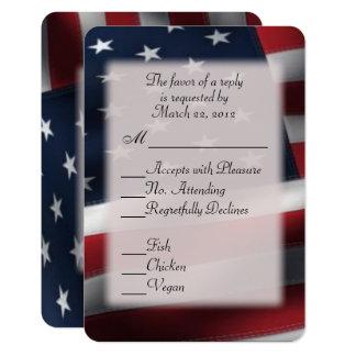 入場の選択の米国旗RSVP カード