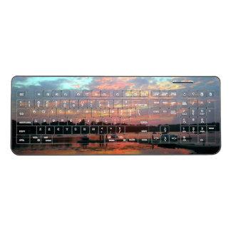 入江の日没 ワイヤレスキーボード