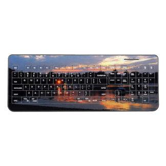 入江上の日没 ワイヤレスキーボード