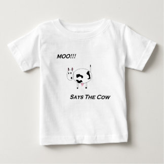 全くかわいい! ベビーのMooのワイシャツ ベビーTシャツ