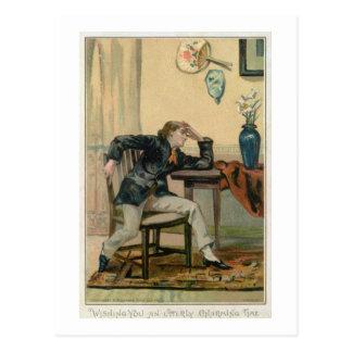 全くチャーミングなひとときを望みます、ビクトリア時代の人CH ポストカード