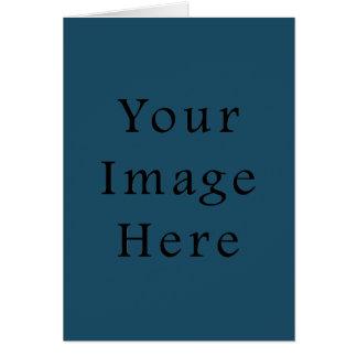 全くティール(緑がかった色)青い色の傾向のブランクのテンプレート カード